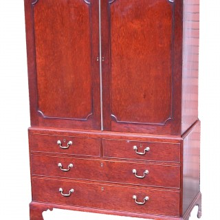 Antique Georgian Mahogany Linen Press