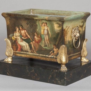 French Three Piece Jardinière Garniture of the Empire Period