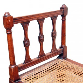 Antique 18th Century Mahogany Window Seat