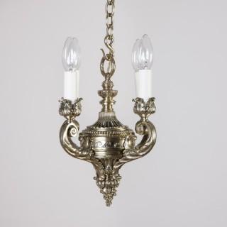 Neo-classical brass hanging light