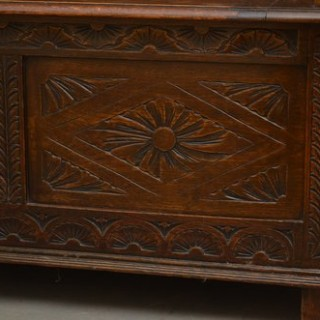A Victorian Oak Hall Bench - Box Settle