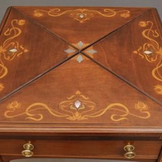 Stunning Art Nouveau Card Table