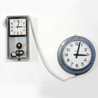 Industrial Factory Master and Slave clocks