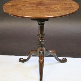 Fine Quality & Colour George 111 Mahogany Round Tilt Top Tripod Wine Birdcage Table