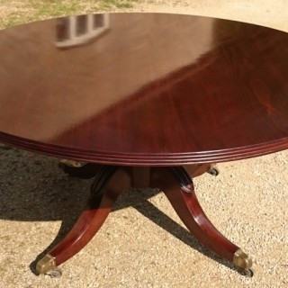 Large Mahogany Antique Breakfast Table Centre Table