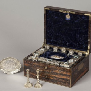 A Mid Nineteenth Century  Lady's Antique Travelling Dressing Case