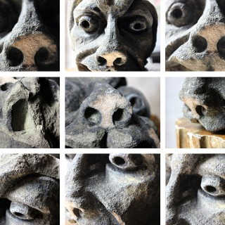 A Wonderful English Medieval Period Carved Stone Gargoyle Fragment c.1250-1350