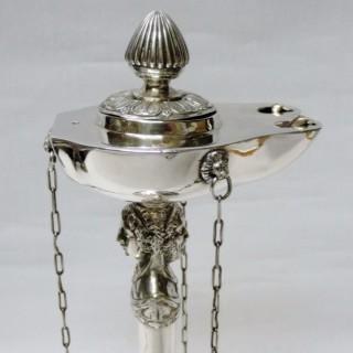 Antique Italian Silver Oil Lamp