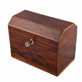 Regency Partidge Wood Tea Caddy