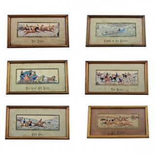 Collection of 6 Victorian Stevengraphs