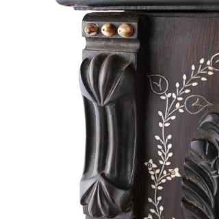 Indian Ebony Miniature Cabinet