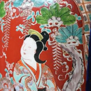 A Large Mid-18thC Japanese Porcelain Kutani Vase c.1740