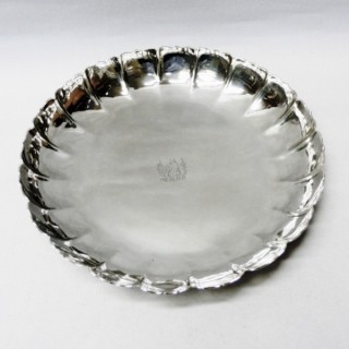 Antique Queen Anne Silver Strawberry Dish