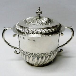 Antique William III Silver Porringer and Cover