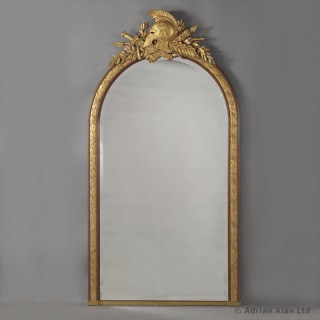 Empire Style Overmantel Mirror