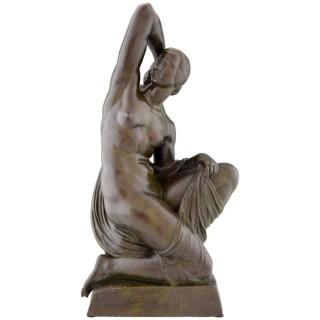 Art deco bronze sculpture of a nude.