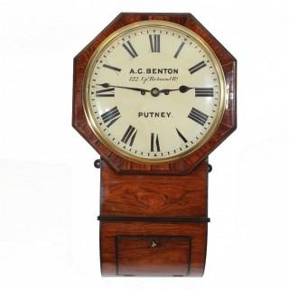 Fusee striking Drop Dial Wall Clock