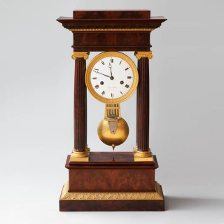 FRENCH EMPIRE PORTICO CLOCK Circa 1810