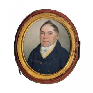 Georgian Oil Painted Miniature Portrait