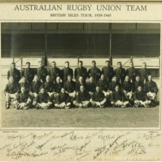 Signed Australian Rugby Union Team 1939 - 40 British Isles Tour.