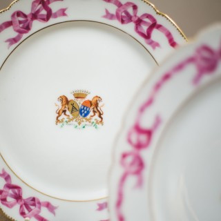 Pair Of French Armorial Plates