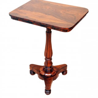 Antique Regency Rosewood Lamp Table