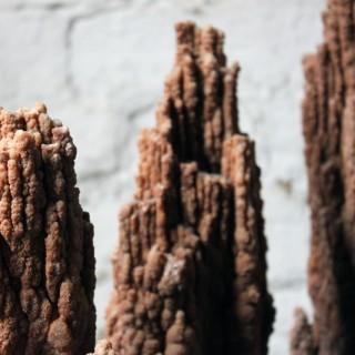 A Beautiful Group of Three Graduated Aragonite Scholar's Rocks