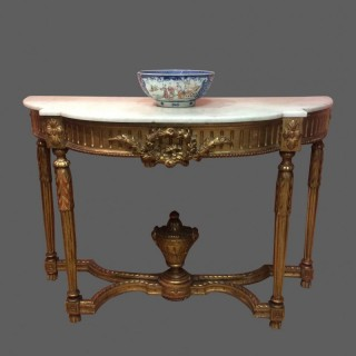 French Empire  gilt  console table.