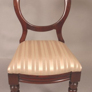 Good Set of Ten Victorian Mahogany Balloon Back Chairs