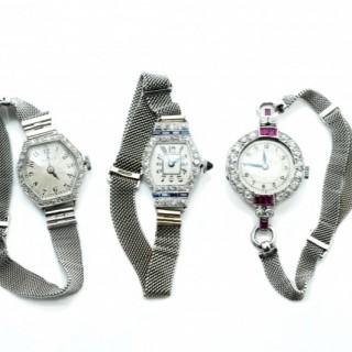 Deco Diamond set Cocktail watches