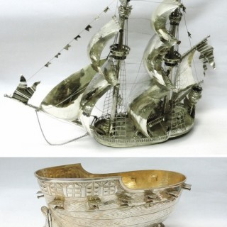Antique German Silver Neff Sailing Ship