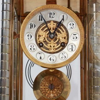 Gothic Silver and gilt Four Glass clock, Vincenti