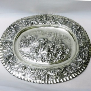 Antique German Silver Charger
