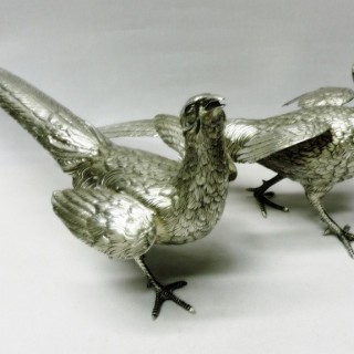 Antique French Silver Table Birds
