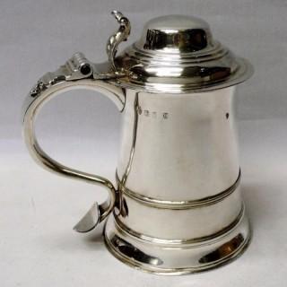 George II Silver Lidded Tankard
