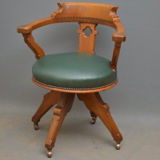 Super Quality Victorian Office Chair in Oak
