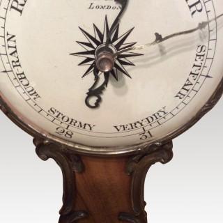 Ormolu mounted wheel barometer