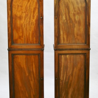 George 1V Mahogany Pair of Pedestal 2 Door Cupboards