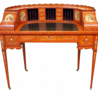 Antique Satinwood Carlton House Desk