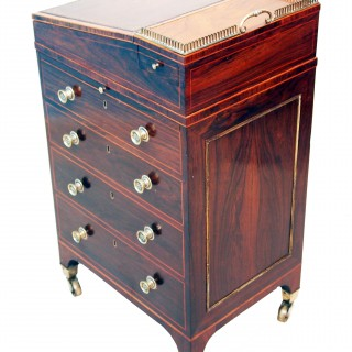 Antique Regency Rosewood Davenport