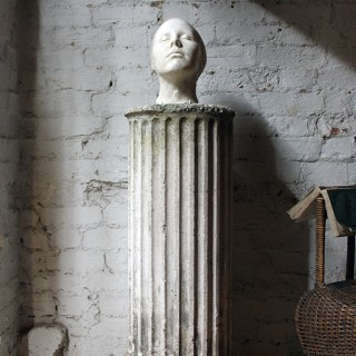 A Very Good 20thC Plaster Death Mask of a Female