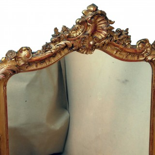 Antique Victorian Gilt Overmantle Mirror