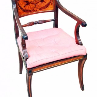 Antique Georgian Mahogany Carver Armchair