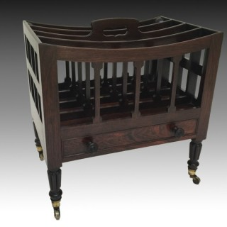 Georgian Rosewood Canterbury Attributed to Gillows