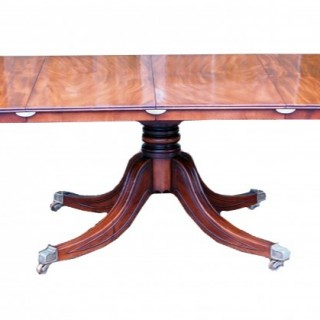 Antique Georgian Mahogany Extending Breakfast Dining Table