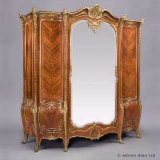 Gilt-Bronze Mounted Kingwood and Marquetry Armoire