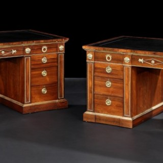 Pair of Pedestal Desks in the Regency Manner
