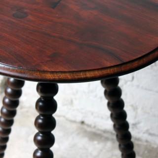An Attractive Walnut & Mahogany Bobbin Turned Occasional Table c.1890-1900