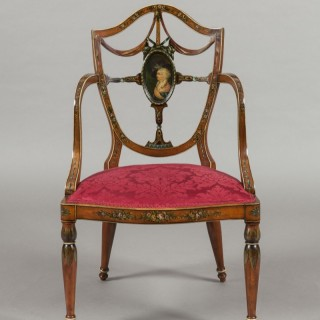 An Antique Armchair in the Adams Manner