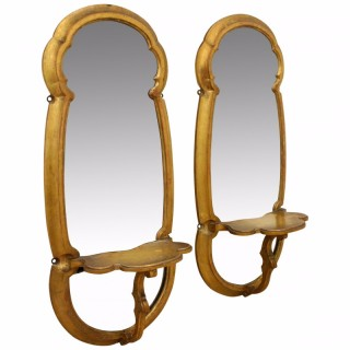 Pair of Giltwood Mirrored Wall Brackets